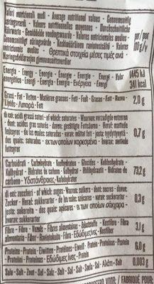 Penne Rigate N°66 Sans Gluten - Informations nutritionnelles