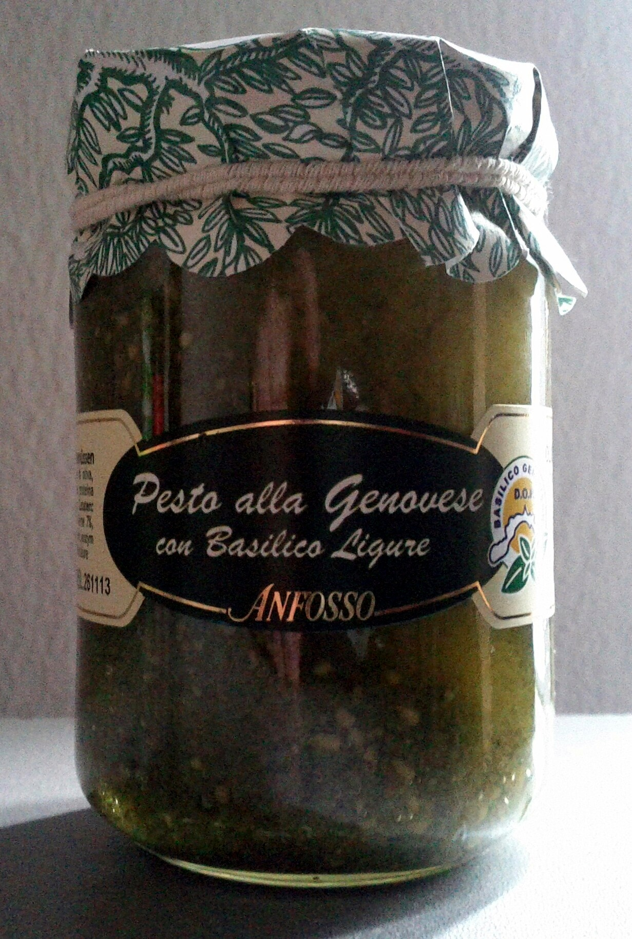 Anfosso Pesto alla Genovese con Basilico Ligure - Produit - de