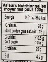 Copa - Informations nutritionnelles - fr