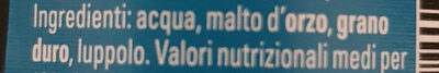 Birra Napoli - Ingrediënten - it