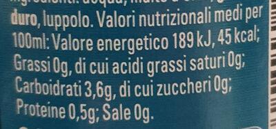 Birra Napoli - Voedingswaarden - it