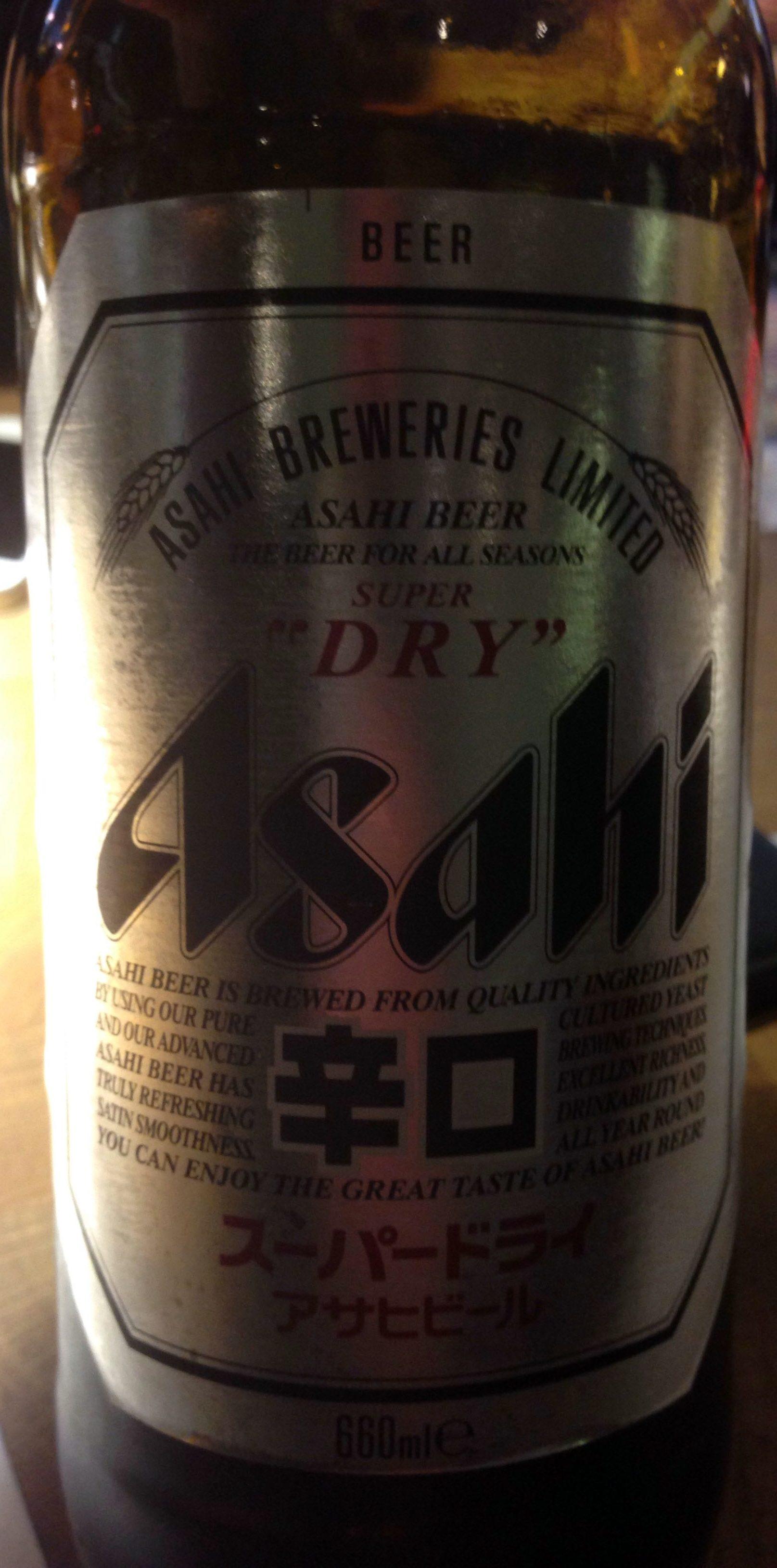 Asahi super dry - Producto