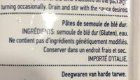 Bucatini n.5 pâte de blé dur - Ingrédients