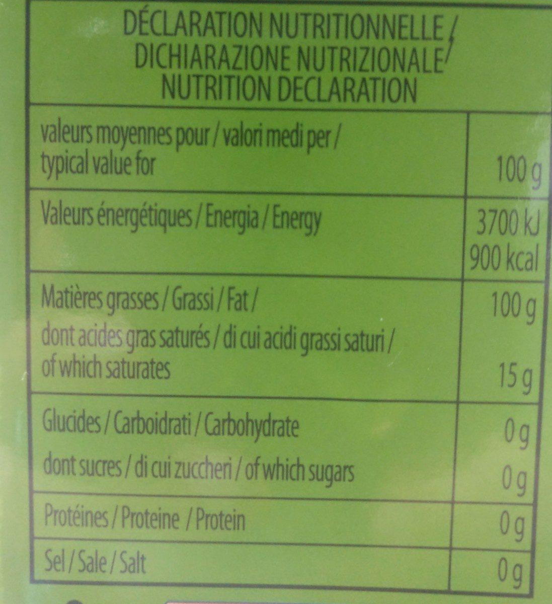 Huile d olive vierge extra - Ingrediënten - fr