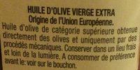 Huile Extra, - Ingrédients