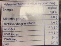 Bresì - Viande de Bœuf Séchée - Nutrition facts - fr