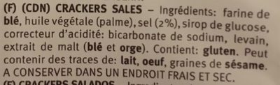Crackers Sales - Ingredients