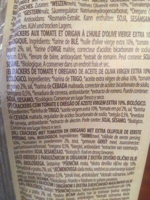 Cracker bio tomato oregano - Ingrediënten - es