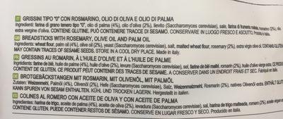 Mini Sfornatini Huile D'olive - Ingrediënten - fr