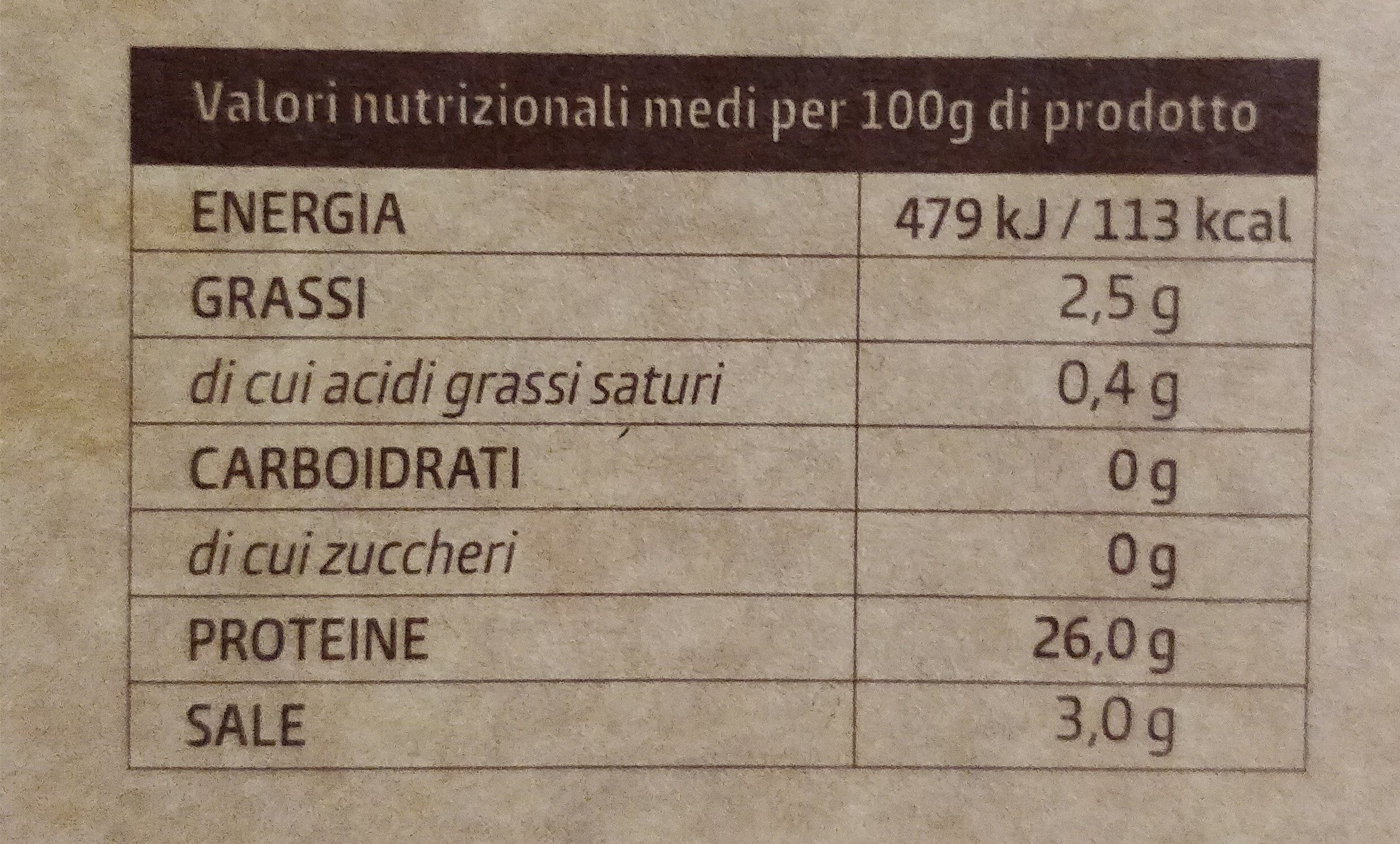 lo storione bianco - Nutrition facts - it