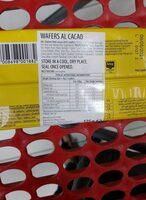 Glutenfreie Waffeln mit Kakaofüllung - Ingredients - en