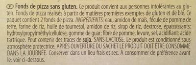 Gluten Free Pizza Base 2 x (300g) - Ingrediënten - fr