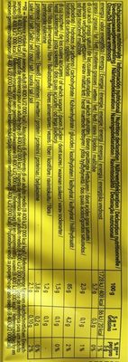 Gluten Free Grissini - Nutrition facts
