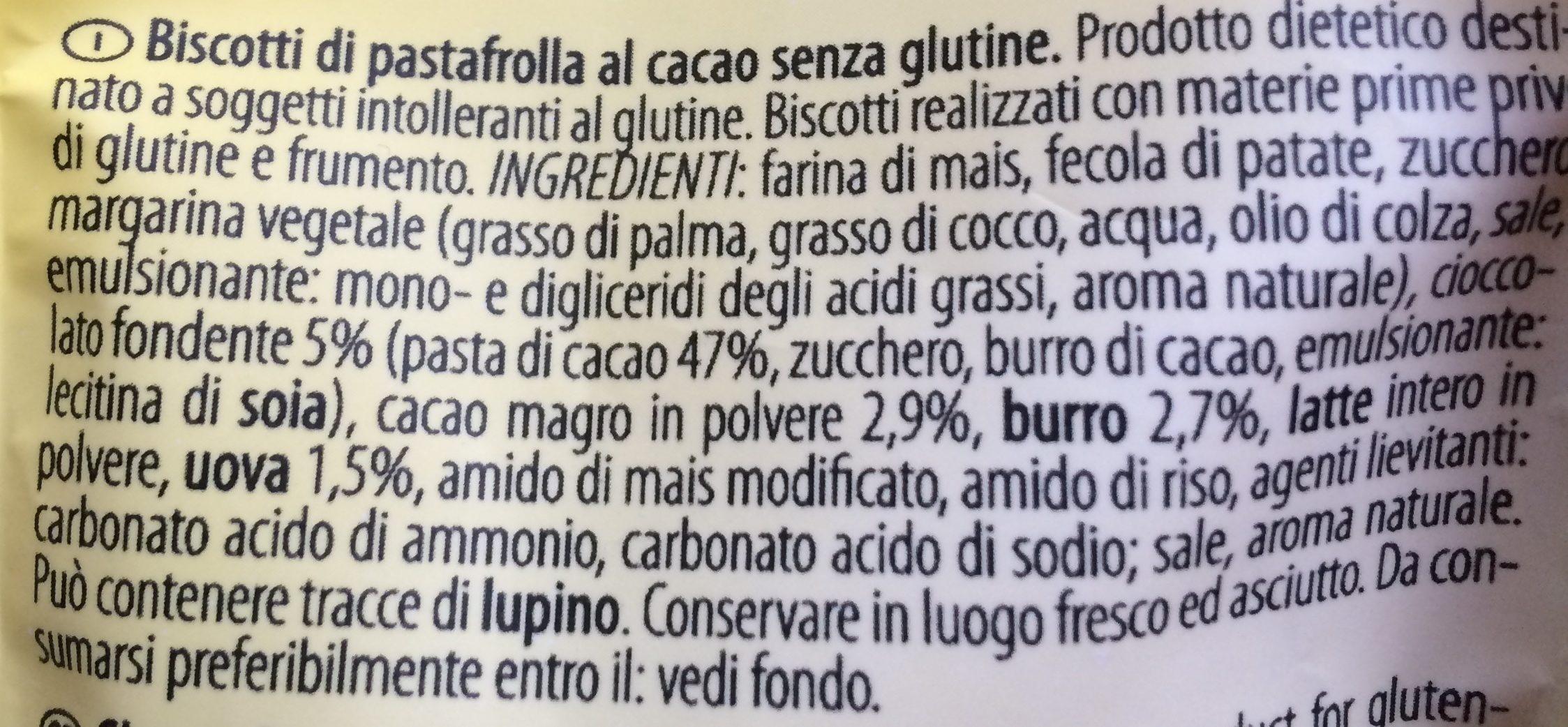 Preziosi con cioccolato e cacao - Ingredients - fr