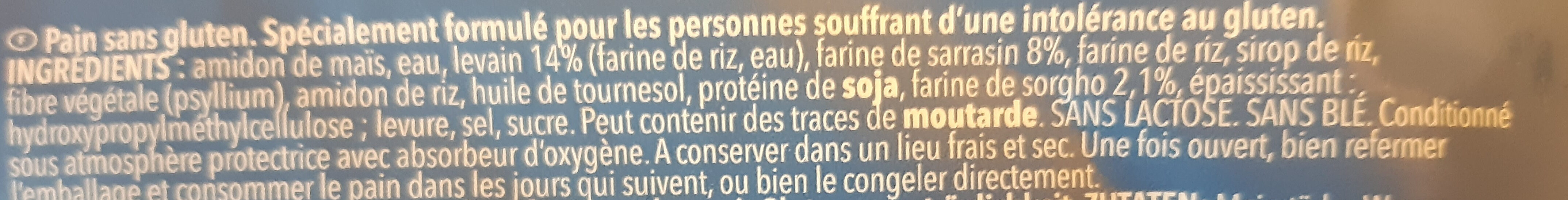 Pain campagnard avec du sarrasin et de levain - Ingredients - fr