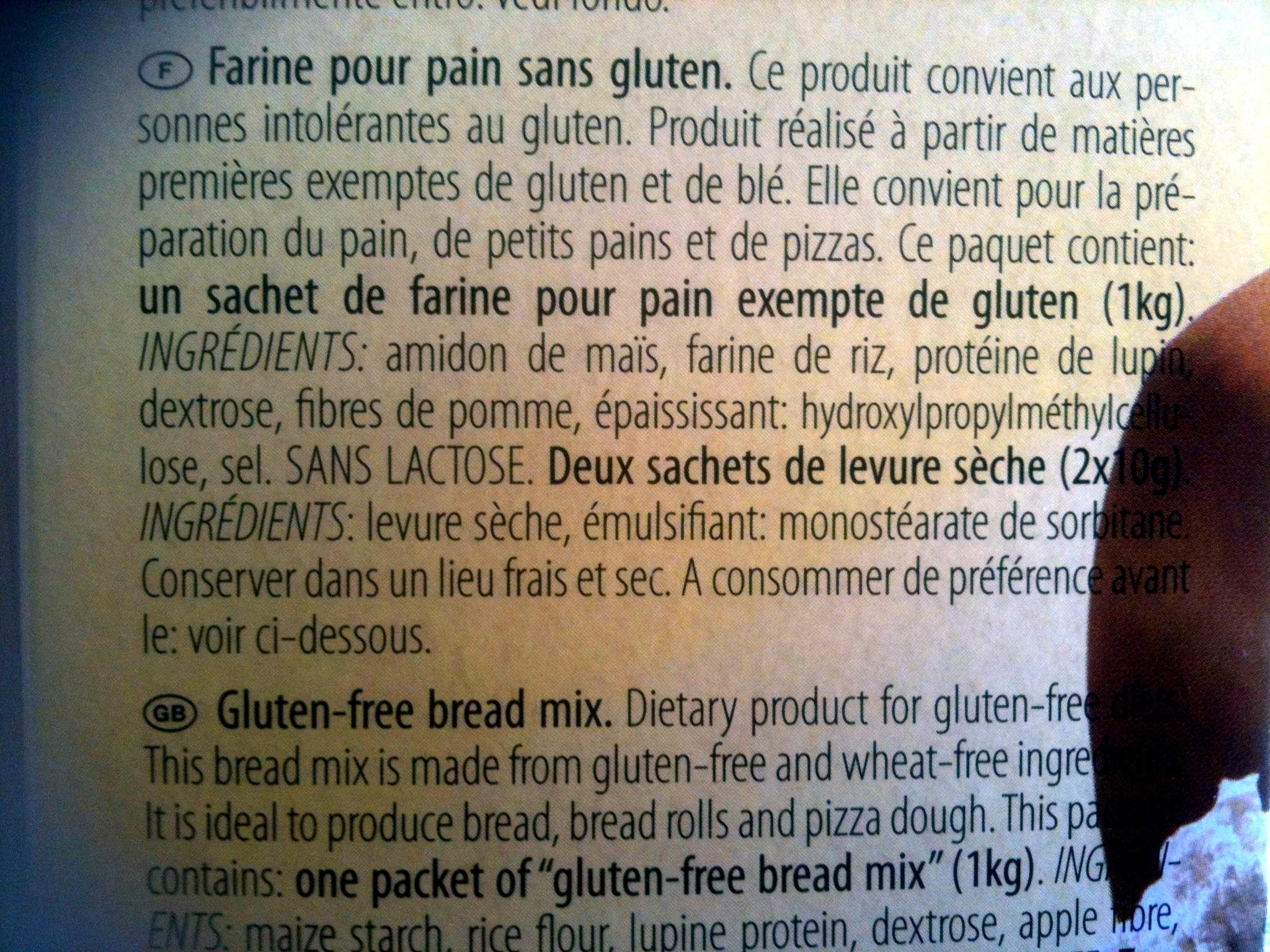Mix B Mix Pane - Ingredients
