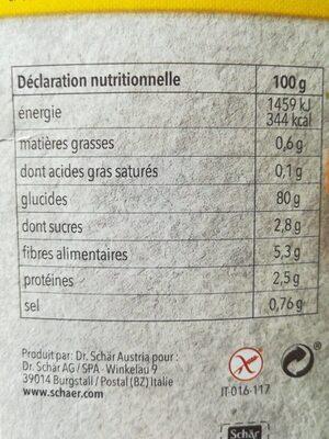Mix B Mix Pain - Informations nutritionnelles - fr