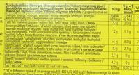 Chocolate Shorts sans gluten - Informations nutritionnelles - fr