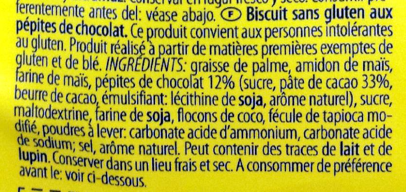 Gluten free chocolade chip cookies - Ingrediënten