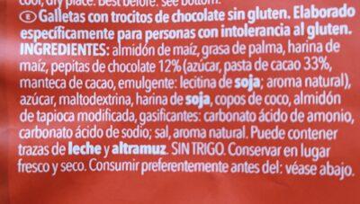 Gluten free chocolade chip cookies - Ingrediënten - en