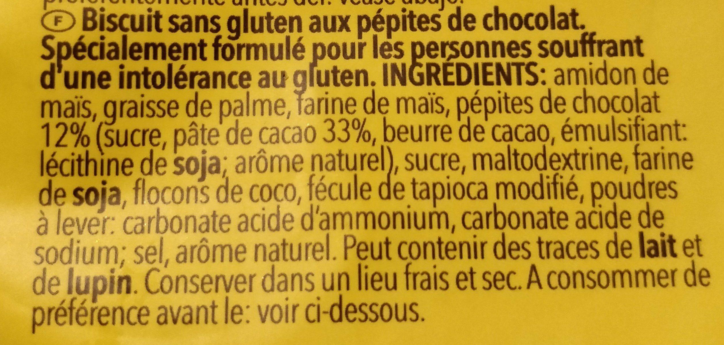 Choko Chip Cookies - Ingrédients - fr