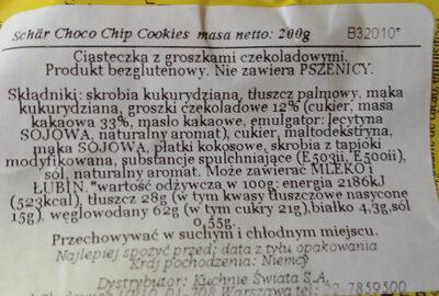 Ciasteczka z kawałkami czekolady - Ingredients