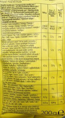 Choko Chip Cookies - Voedingswaarden