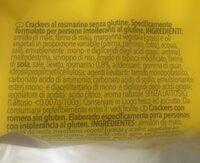 Crackers au Romarin sans gluten - Ingredients - fr