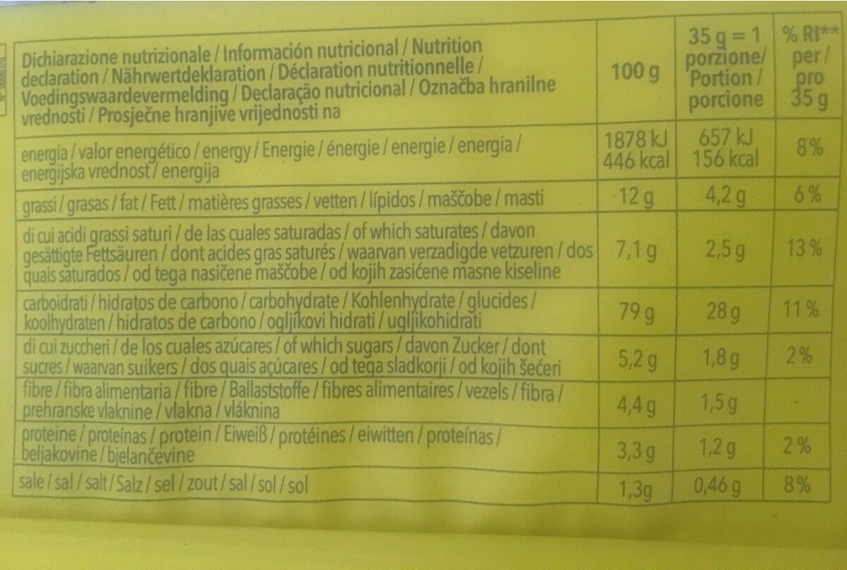 Crackers au Romarin sans gluten - Nutrition facts - fr