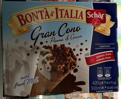 Gran Cono Panna & Cacao with fresh milk - Produit