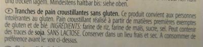 Tartine croustillante - Ingredients