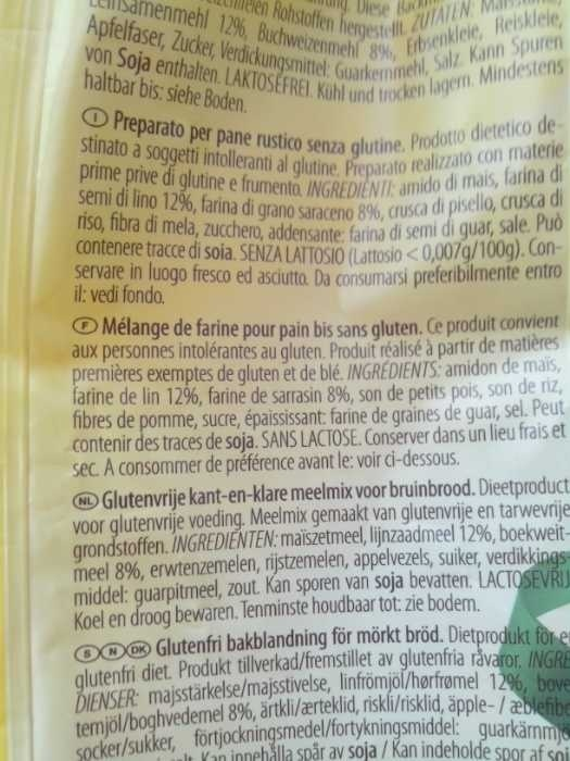 Mix it rustico - Ingrediënten - en