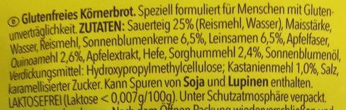 Meisterbäckers Vital - Ingredients - de