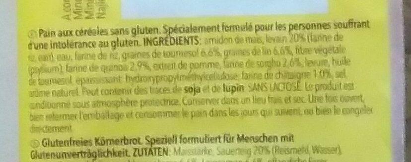Meisterbäckers Vital - Ingrédients - fr