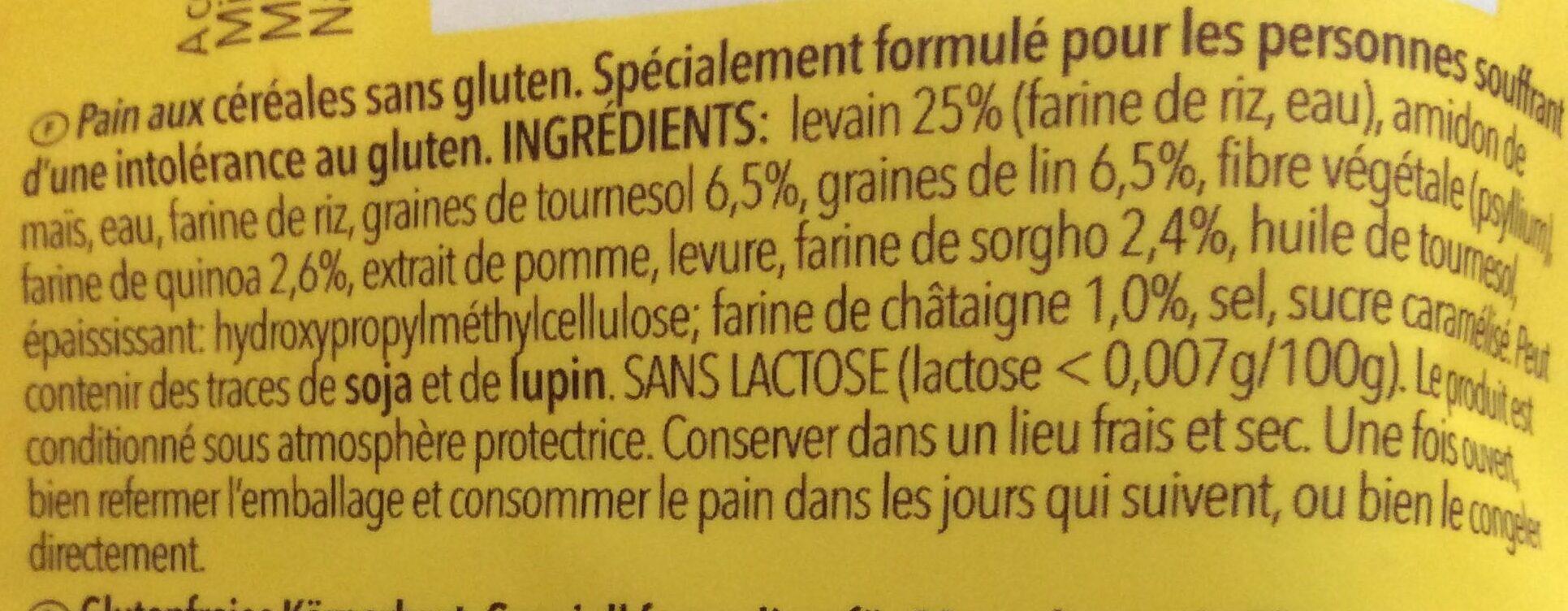 Wholesome Vitality Loaf sans gluten - Ingrédients - fr