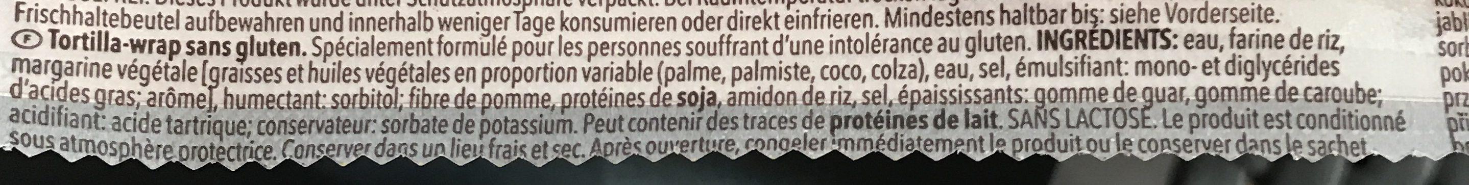 Wraps - Ingrédients - fr