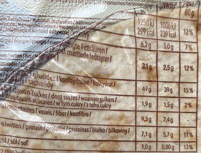 Wraps gluten-free - Nährwertangaben - de