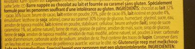 CHOCOLIX SANS GLUTEN - Ingredients