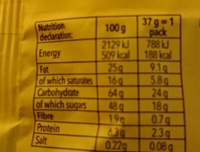 Delishios - Nutrition facts