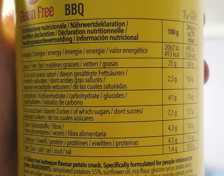 Schär Curvies BBQ - 营养成分 - en