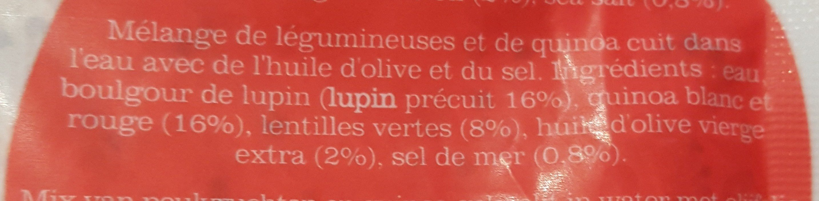 Bulgur mix with lupin, quinoa & lentils - Ingredients - en
