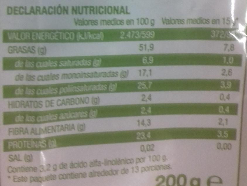 Mezcla de Semillas - Información nutricional