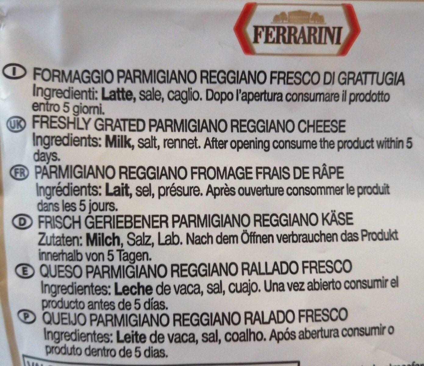 Parmigiano Reggiana râpé - Ingredienti - fr