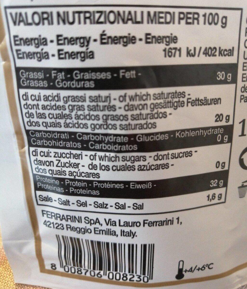Parmigiano Reggiana râpé - Valori nutrizionali - fr
