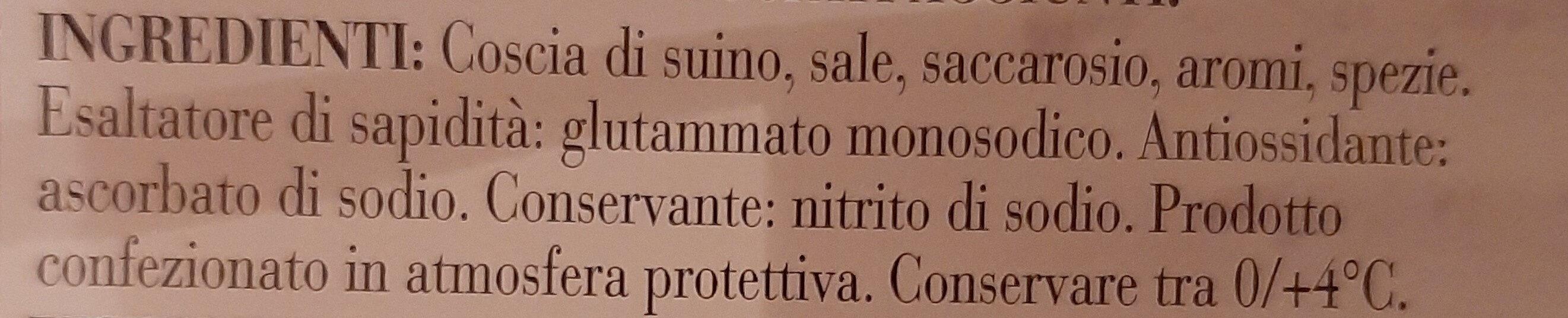 Prosciutto Cotto Ferrarini - Ingredienti - it