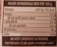 Prosciutto Cotto Ferrarini - Valori nutrizionali - it