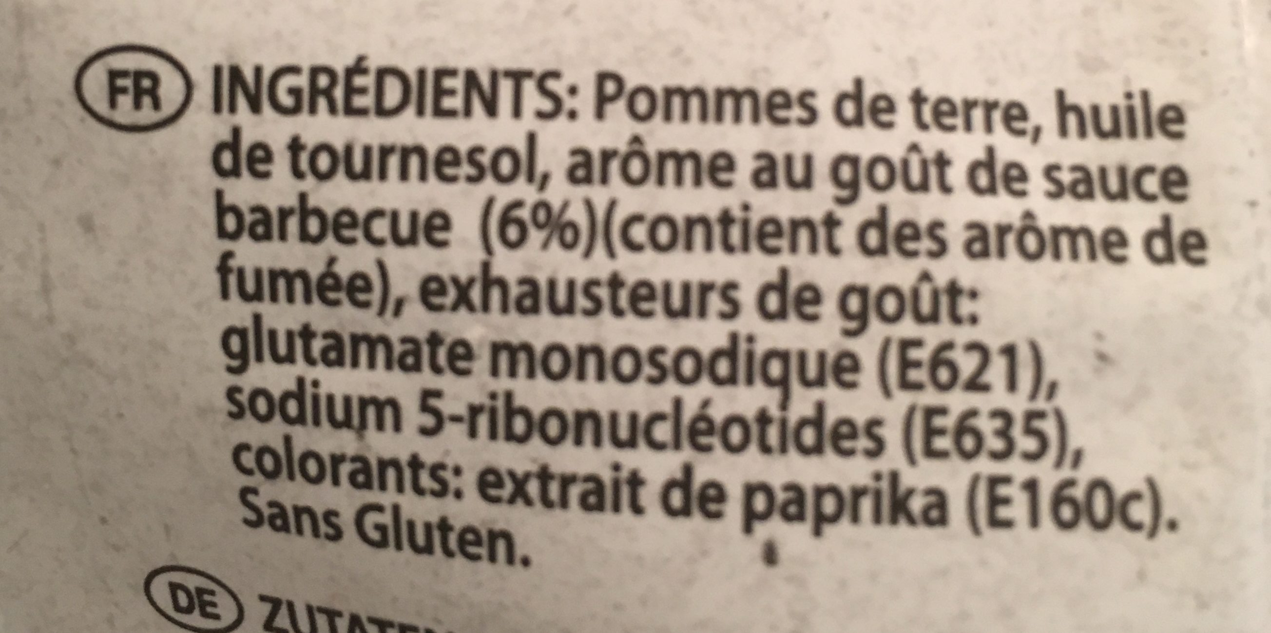 Eldorada Salsa Barbecue - Ingrediënten - fr