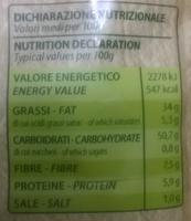 Eldorada Olio di Olivia - Informazioni nutrizionali