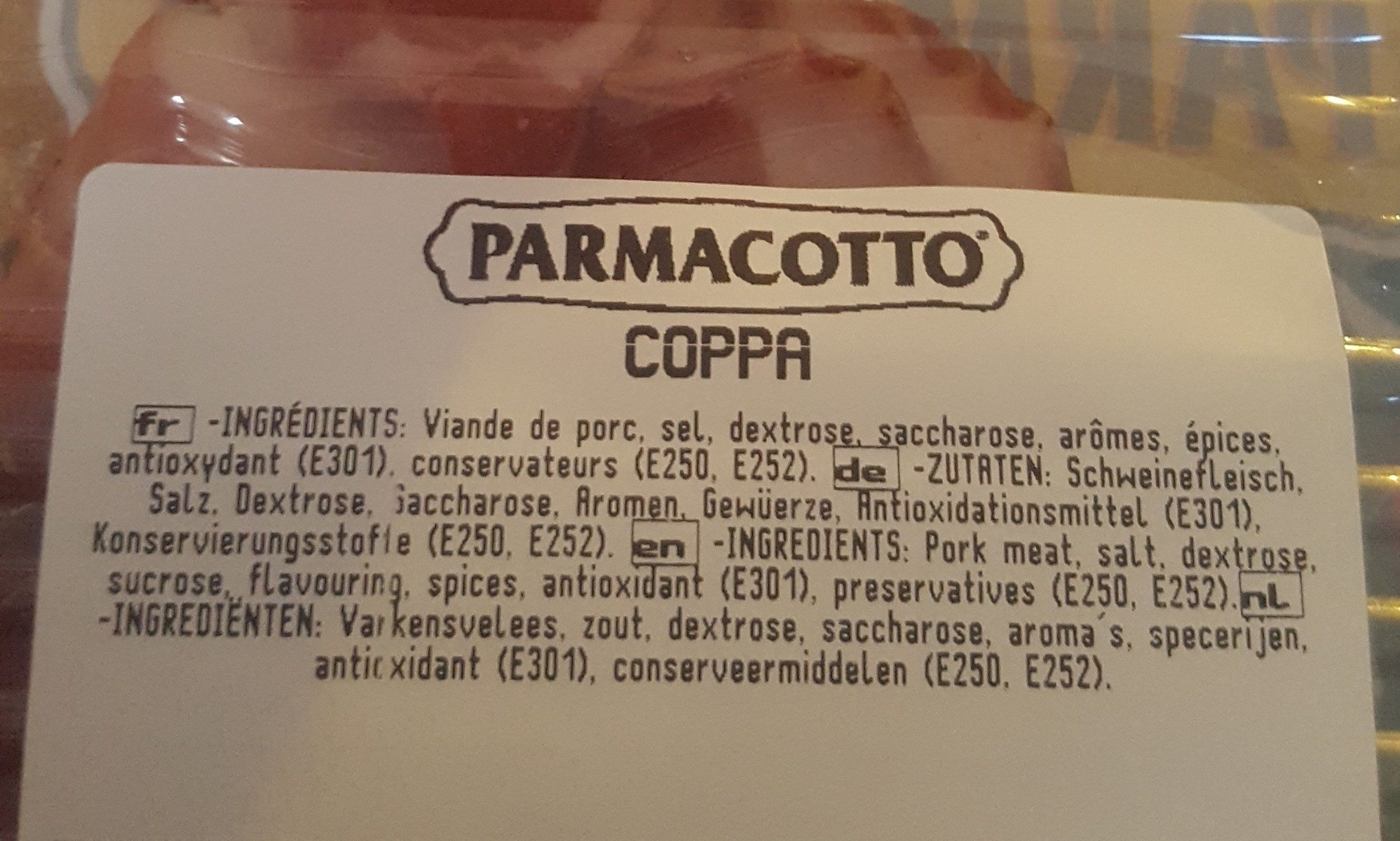 coppa - Ingredients