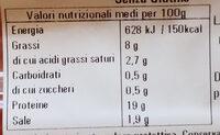 prosciutto cotto - Nutrition facts